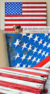 diy american flag home decor from reclaimed wood pallet via liblueboo com