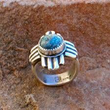 sterling silver southwestern zia symbol ring traditional spanish market award winning santa fe native artist gregory