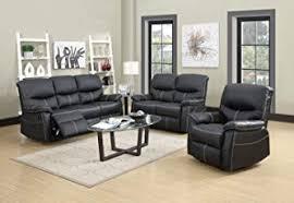 i living furniture design. 3 PCS Motion Sofa Loveseat Recliner Set Living Room Bonded Leather Furniture I Design A
