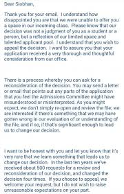 Siobhan O'Dell's turns down Duke University college rejection ... Not sharing the joke: Duke University did respond to Miss O'Dell's email,