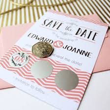scratch off save the date card from not on the high street