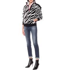 Zebra Half Zip Sweatshirt