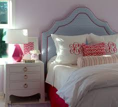 Silver And Pink Bedroom Pastel Pink Kids Traditional With White Nightstand Silver Curtain