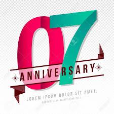 Anniversary Template Anniversary Emblems 7 Anniversary Template Design Royalty Free
