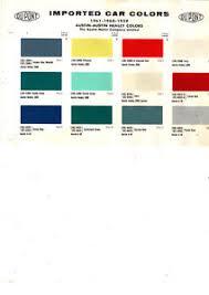 Austin Healey Color Chart Details About 1957 1958 1959 1960 1961 1962 1963 1970 Austin Austin Healey Paint Chips 5961d 3