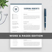 Professional Manager Resume Template For Word Mac Pages Creative Executive Cv Modern Design Free Cover Letter Instant Download