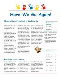 october newsletter ideas preschool newsletter ideas best templates images on preschool