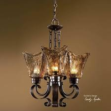 uttermost vetraio 3 light chandelier in oil rubbed bronze