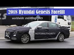 2018 hyundai genesis sedan.  2018 2018 hyundai genesis facelift spied wearing a new bumper below the front  grille inside hyundai genesis sedan