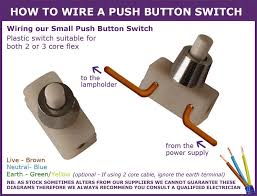 useful information for in line light switches how to wire a push button switch