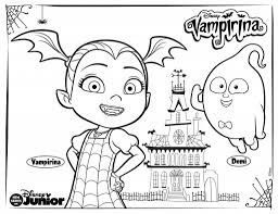 Vampirina And Demi Coloring Page Cora Bday Party In 2019