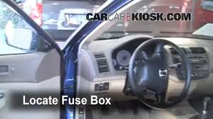 interior fuse box location honda civic honda locate interior fuse box and remove cover