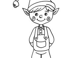 14 Elves Coloring Page Girl Elf Coloring Pages Coloring Home