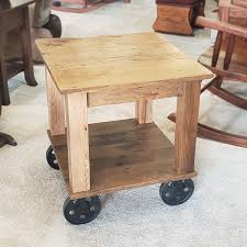 mill cart end table 16201