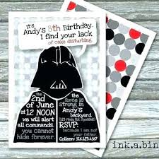 Star Wars Party Invitation Template Guluca