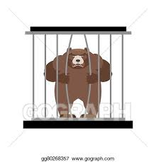 zoo animals in cages clipart. Contemporary Zoo Bear In Zoo Cage Strong Scary Wild Animal Captivity Large Grizzly Bear  Sitting Behind Bars Animal Wants To Get Out Of On Animals In Cages Clipart N