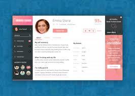 Online Dating Website Design Profile Page Design For Dating Website Found On Dribbble