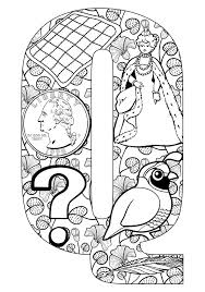 Small Picture Things that start with Q Free Printable Coloring Pages Kids