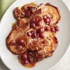 balsamic pork chops and grapes