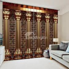Curtain for the living room High Ceiling 3d Curtains Beddinginncom Beautiful Living Room Curtains 3d Blackout Curtains Online Selling