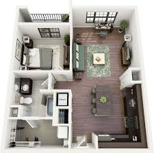 3D 2 bedroom apartment floor plans | Floor Plans - One Bedroom// I love