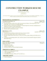 Resume Sections Amazing Examples Of General Labourer Resume With General Resume Sample Good