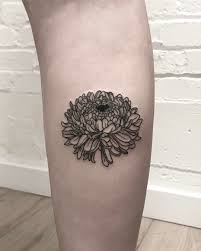 Chrysanthemum From A Little While Back Dark Tattoo Chrysanthemum
