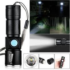 CREE Đèn Pin Mini 3 Chế Độ Sáng Có Cổng Sạc Usb tại Nước ngoài