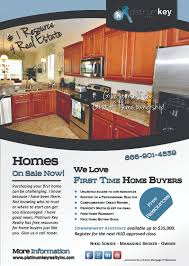 promotion platinum key realty first time home buyer flyer v2