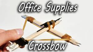 how crossbow works how to make office supplies crossbow youtube