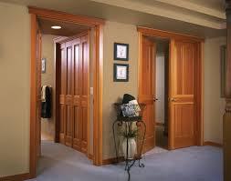 wood interior doors. Simple Wood Doors Interior Bifold And Double Door Shown In Fir Wood In Wood Doors