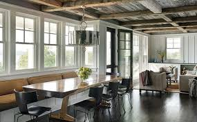 modern rustic dining rooms. modern rustic dining room living rough hewn beam ceiling rooms