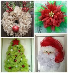 images of deco mesh christmas wreaths