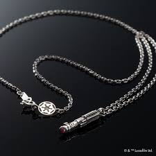 details about star wars lightsaber necklace darth vader silver accessory jewelry size s new
