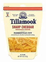 shredded cheese. Fine Cheese Tillamook Shredded Sharp Cheddar Cheese FarmStyle Cut 8 Oz Throughout