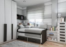 twin beds dark gray