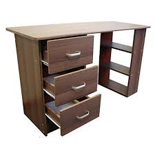 office computer desks. Interesting Computer Redstone Dark Walnut Computer Desk  3 Drawers  Shelves Home Office  Table Workstation Throughout Desks D