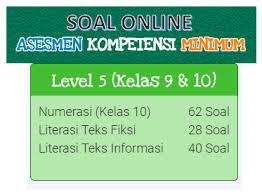 Sesuai dengan judul posting, penulis. Contoh Soal Akm Online Kelas 9 Dan Kelas 10 Level 5 Kherysuryawan Id