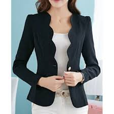 $15.19 Simple <b>Design V</b>-<b>Neck</b> Long Sleeve <b>Solid Color</b> Blazer For ...