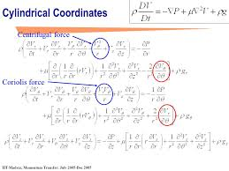 3 cylindrical coordinates navier stokes equation ppt