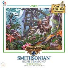 This is the official guide for hidden expedition: Ceaco Jigsaw Puzzle Smithsonian Hope Diamond Jungle Bluff Hidden Expedition 1798345003