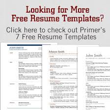 Resume Formats Free Download Word Format 12 Resume Templates for Microsoft Word Free Download | Primer