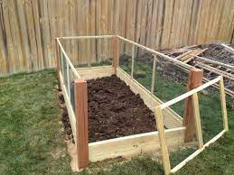 raised garden bed fence ideas