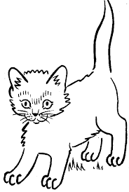 black and white cat clipart. Dog And Cat Clip Art Black White Clipart Library Free