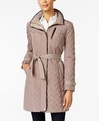 Cole Haan Signature Quilted Belted Coat - Coats - Women - Macy's & Cole Haan Signature Quilted Belted Coat Adamdwight.com