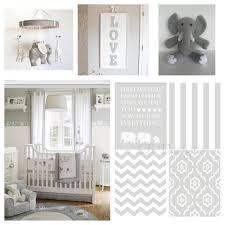 Gender Neutral Gray and White Elephant Nursery. Nursery prints from:  www.etsy.