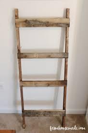 Diy Blanket Ladder Easy Pallet Blanket Ladder Farmhouse Made