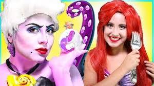 by princess makeup and toys disney princess ursula ariel make up tutorial the little mermaid costume