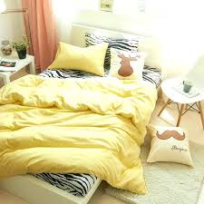 yellow twin comforter cotton print simple style zebra bedding set home four seasons fashion duvet cover
