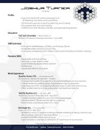 ... What Is An Electronic Copy Of Resume by Resum 233 Joshua Turner 3d  Artist ...